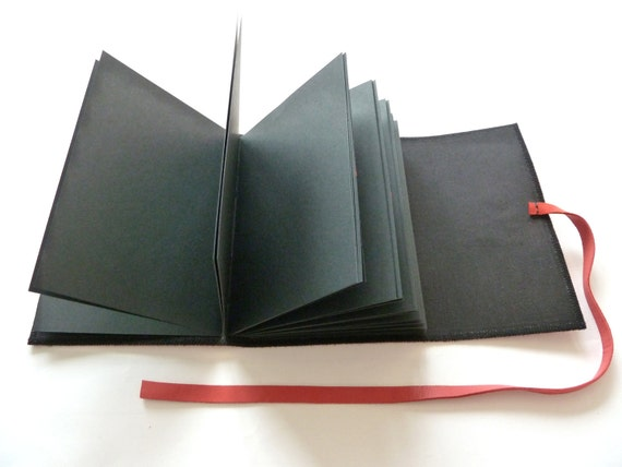 Red and Black Leather Photo Album