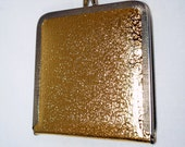 Gold lame folding mirror compact