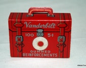 Vanderbilt Briefcase of gummed reinforcements