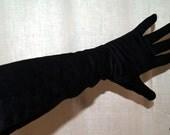 Lady Gay gloves black nylon vintage
