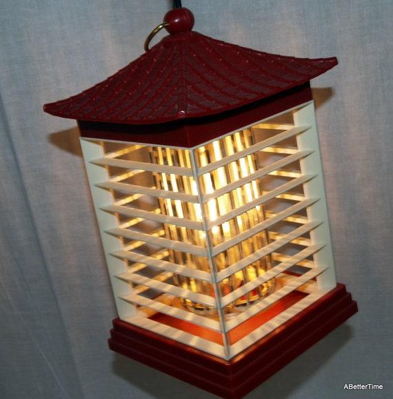 Hanging Japanese Lamp: Vintage Hanging Japanese Lantern Lamp