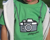 Green Photographer Toddler Tee Size 2,4,6