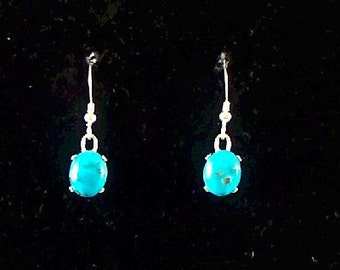 Kingman Turquoise Small Stone Earrings