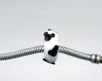 Charm Beads - Large Hole - SRA Lampwork - Mouse Ears