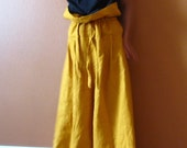 custom  drawstring lotus wide leg pants custom order listing