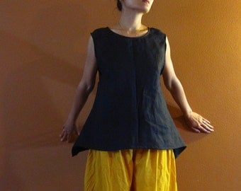 size XS to 6XL simple wavy linen top