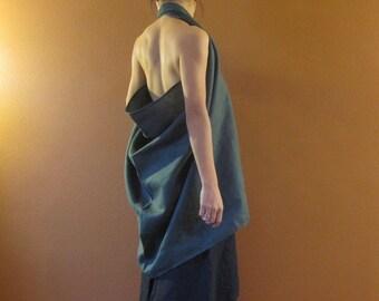 handmade eco linen halter top made to order