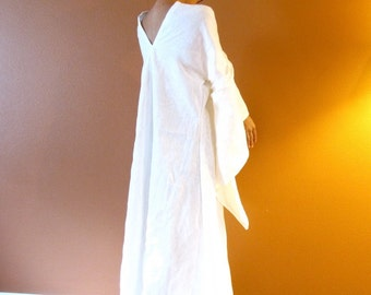 custom eco wedding dress linen flying swallow dress made to measure listing