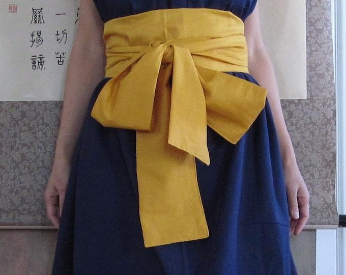 eco  handmade cotton Obi sashes for eco weddings