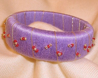 Lavendar Beaded Bangle