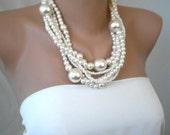 Huge Pearls, Handmade Bridal Pearl Necklace