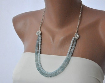 Aquamarine Beach Weddings Necklace