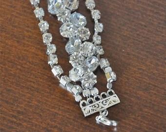 Clear Crystal Bracelet, Weddings Rhinestone Bracelet , Brides Bracelet, Bridesmaids Gifts,
