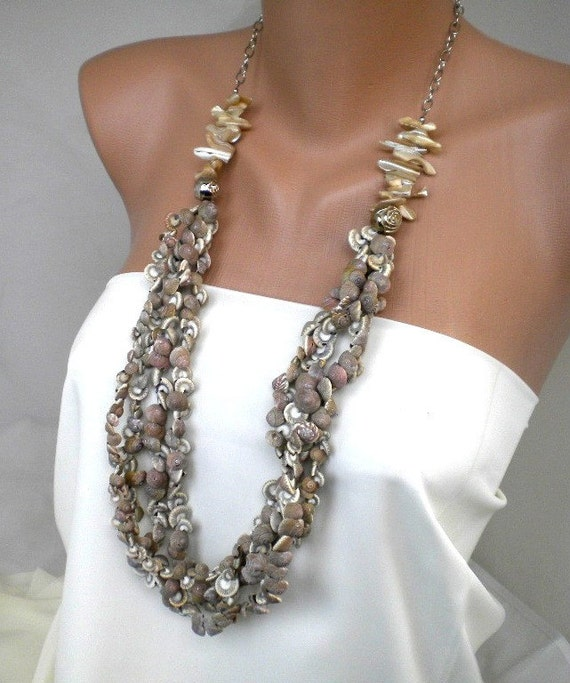 Make Your Own Seashell Jewelry: Items Similar To Handmade Sea Shell Necklace On Etsy