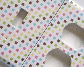 Switchplate Light Switch Cover Outlet Cover Multicolored Tiles
