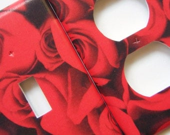 Light Switch Cover Outlet Cover Switchplate Red Roses