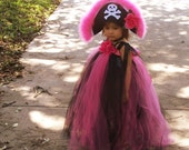 Boutique Pink Pirate Princess CUSTOM MADE Tutu Dress Set with Pirate 12 MONTHS 2T 3T 4T 5T