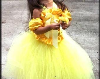 custom Belle princess halloween costume sizes 12 months 2t 3t 4t 5t 6 girls
