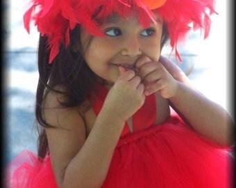 Boutique Custom BIRTHDAY made to size needed Elmo TUTU dress SET Pageant