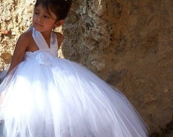 Gorgeous Flower Girl Princess Fully Sewn and Satin  Lined Tutu Gown Wedding Dress 12 months 18 2t 3t 4t 5t 6 girls