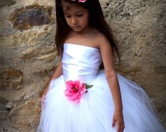 Weekend SALE Flower girl Custom Satin dress sizes 12 months newborn 2t 3t 4t 5t 6 girls wedding birthday outfit communion baptism Christmas