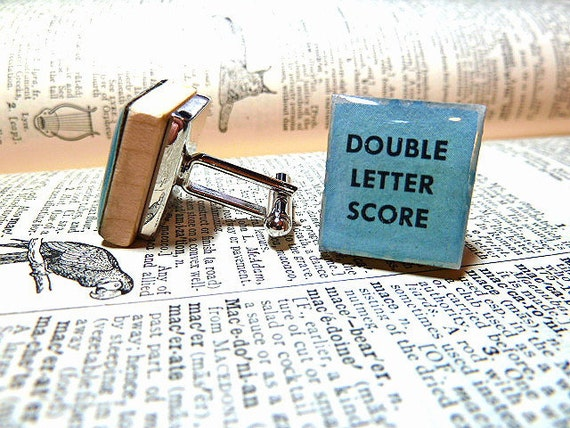 Double Letter Score Repurposed  Scrabble Tile Cuff Links