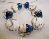 Glass Lampwork Beads Stormy SeaShells SRA 1171 by CC Design