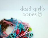 Dead Girl's Bones Bracelet. Turquoise Skull.