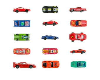 Sports Car Collection - 8x8 photograph - toy race cars, playroom wall art, retro toy art