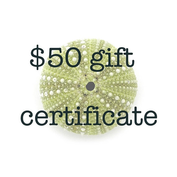 Gift Certificate, 50 dollars
