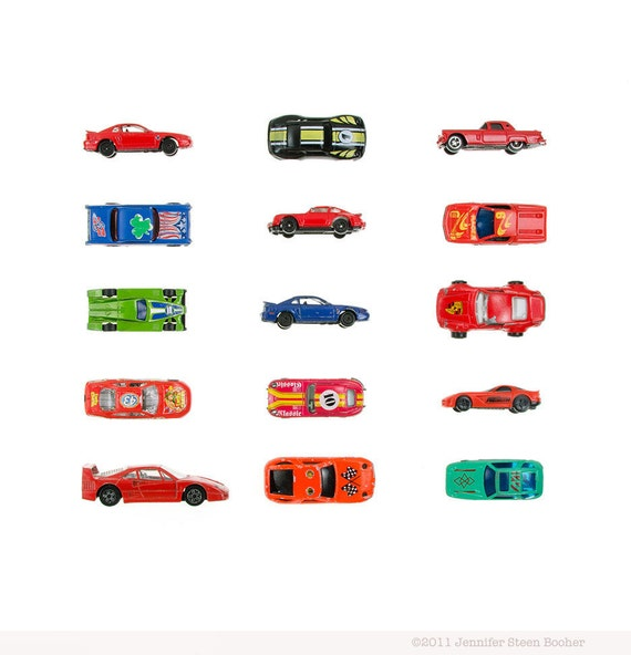 Sports Car Collection - 8x8 photograph - toy race cars
