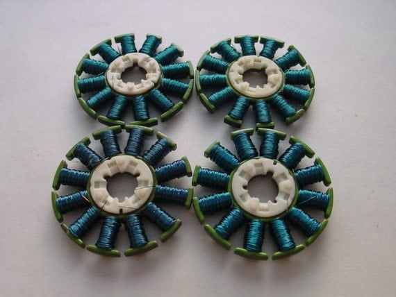 Recycled  Electronic Techie/Geek Steampunk Jewelry Supply Teal Blue. RCW-04