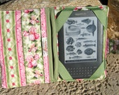 Kindle 3 eReader or Kindle Fire Cover Shabby Chic Iris