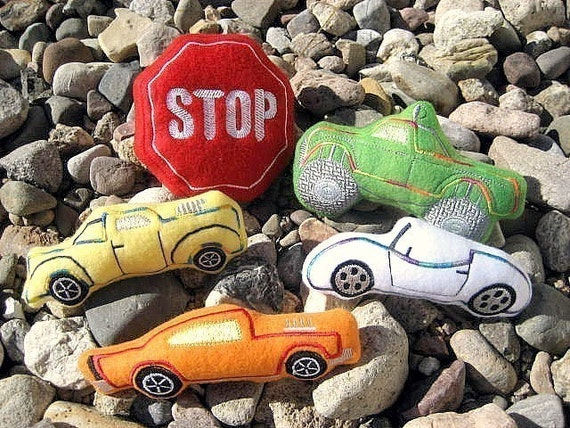 Suffed Plush Cars and Trucks Baby or Toddler Toys