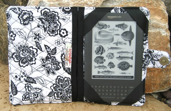 Kindle HD, Kindle 3 eReader or Kindle Fire Cover Black and White