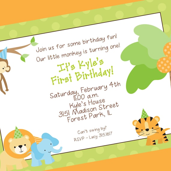Jungle Invitation Template was good invitation sample