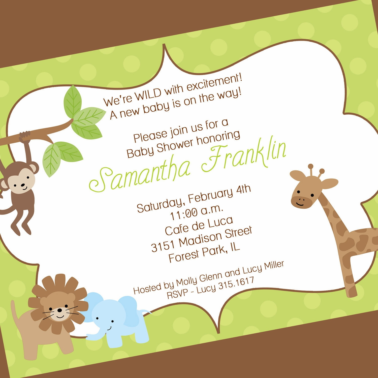 Jungle Themed Baby Shower Invites was amazing invitation sample