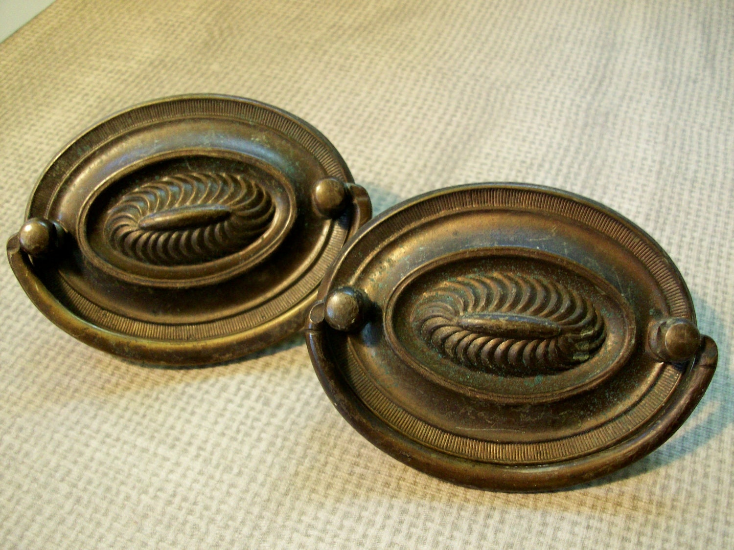 vintage drawer pulls duo
