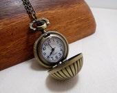 Pocket Watch Necklace Round Ball Pocketwatch Jewelry