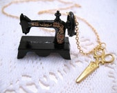 Sewing Machine Necklace Sounds Like A Singer