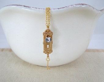 Doorknob And Key Necklace Alice In Wonderland Jewelry