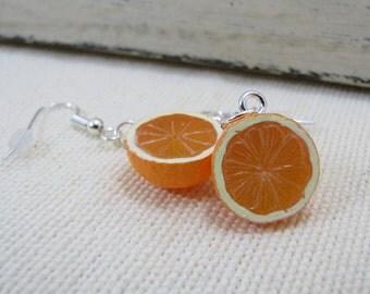 Oranges Earrings Miniature Food Jewelry
