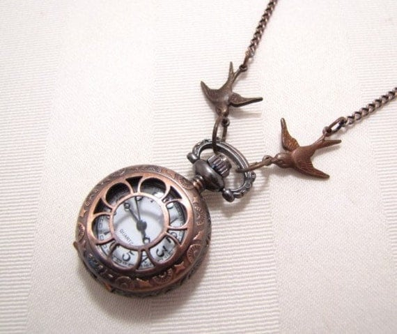 Petite Pocket Watch Necklace