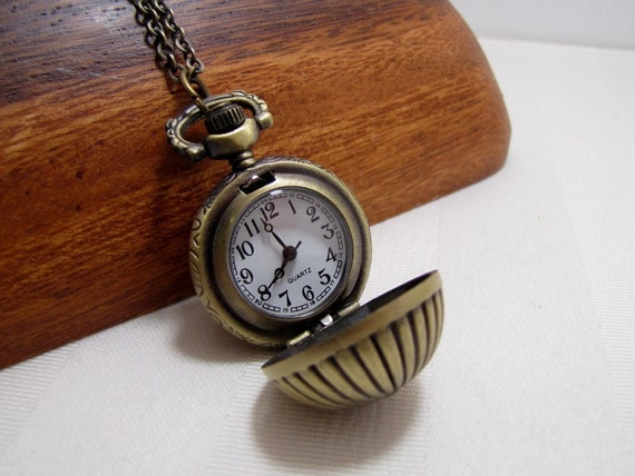 Pocket Watch Necklace Round Ball Pocketwatch Jewelry