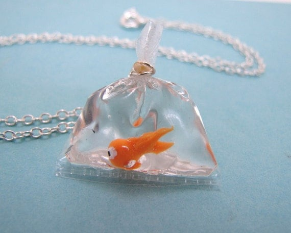 Goldfish In A Bag Necklace