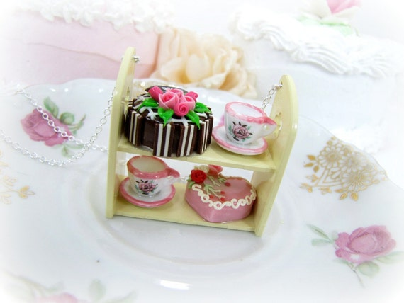 Teacups And Cakes Shelf Necklace