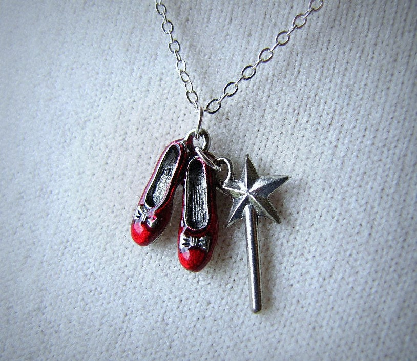 red ruby slippers wizard of oz jewelry dorothy by