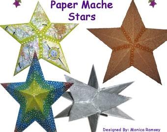 How to Make Paper Mache Stars E book