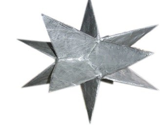 Pattern for a 3-D Star from paper mache