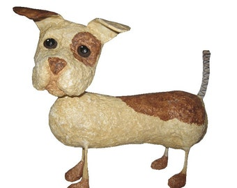 Pattern for Springy Puppy Paper Mache Dog